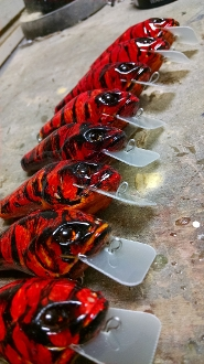 "TATER HOG LIZZARD GOBY ""Cherry Lemon Crystal Craw"" SR"